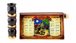 Коньячный набор Календарь 2018 Год Собаки