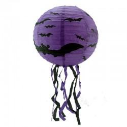 Декор подвесной фиолетовый с летучьей мышью