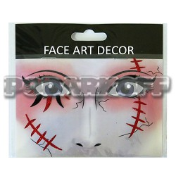 Наклейки для лица Хэллоуин