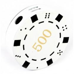 Зажигалка газовая Покерная фишка белая