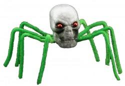 Декор Паук-череп зеленый