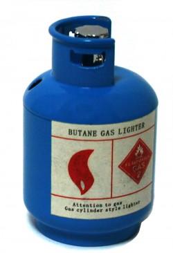 Зажигалка газовая Газовый баллон синий
