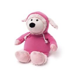 Мягкая игрушка-грелка Овечка в курточке, розовая