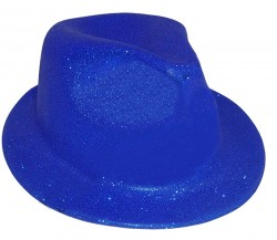 Шляпа детская Мафия блестящая синия