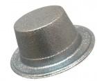 Шляпа детская Цилиндр блестящая серебро
