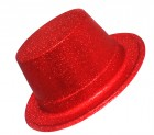 Шляпа детская Цилиндр блестящая красная