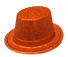 Шляпа детская Цилиндр блестящая бронза