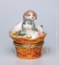 Шкатулка Пара щенков