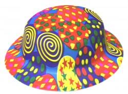 Шляпа детская Котелок с принтом