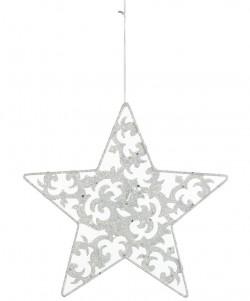 Украшение декоративная Звезда белая