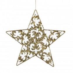 Украшение декоративное Christmas House Звезда золотистая