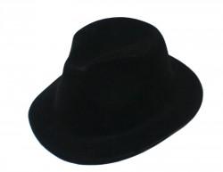 Шляпа детская Мафия флок черная