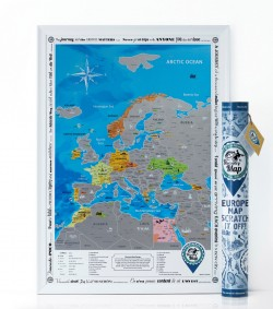 Скретч карта Discovery Map Europe