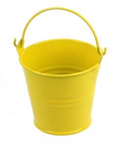 Среднее цветное ведерко 7см желтое