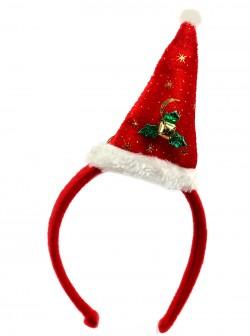 Новогодний колпак на ободке с звоночком