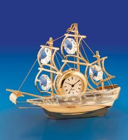 "Фигурка с часами ""Корабль"""
