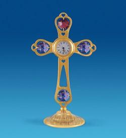 """Фигурка с часами """"Крест"""" с цв.кр."""