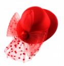 Шляпка гламур красный