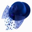Шляпка гламур синяя