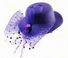Шляпка гламур фиолетовый