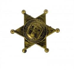 Значок шерифа золотой
