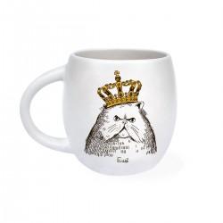 """Чашка """"Кот в короне"""" матовая"""