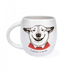 """Чашка """"Собака улыбака"""" матовая"""