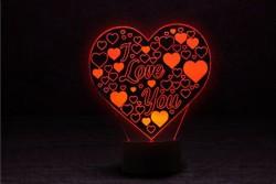"""Светодиодная лампа """"Люблю тебя"""""""