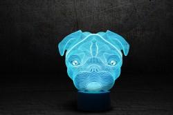 "3D лампа ""Мопс"""