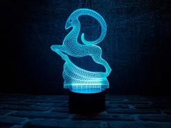 """3D светильник """"Золотая антилопа"""""""