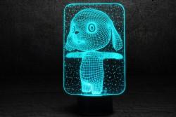 """Яркий 3D светильник с эффектом трехмерного изображения """"Зайка"""""""