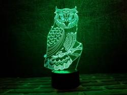 """3D светильник """"Сова 3"""""""