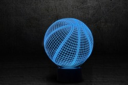 """Яркий светильник 3D """"Баскетбольный мяч"""""""