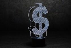 "3D светильник ""Доллар"""