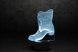 """3D Светильник с сенсорной панелью 7 цветов """"Сапожок"""""""