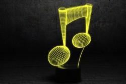 """3D светильник """"Нота"""""""
