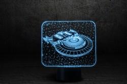"""3D ночник """"Космический корабль"""""""