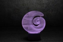 """Светильник с эффектом 3D """"Спираль"""""""