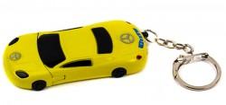 Зажигалка брелок Автомобиль желтая