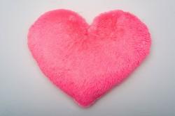 Подушка-сердце 50 см - розовая