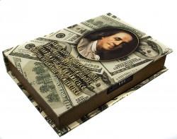 Шкатулка сейф Доллары большая