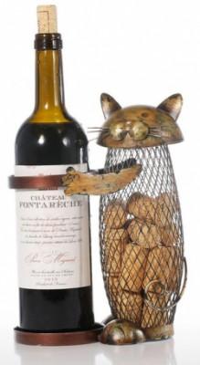 Декоративная подставка для вина Gold Cat