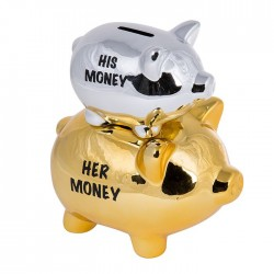 """Копилка 2 свинки """"His Money & Her Money"""""""