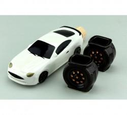 Коньячный набор авто мини спорт белый, 3 предмета