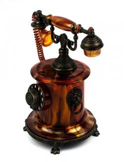 Зажигалка сувенирная рэтро телефон коричневый
