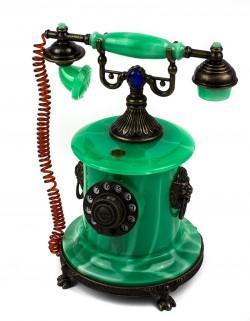 Зажигалка сувенирная рэтро телефон зеленый