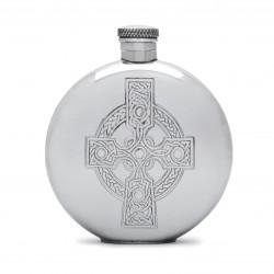 Круглая фляга с кельтским крестом
