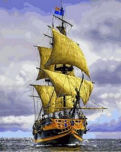 Картина по номерам Пиратский корабль