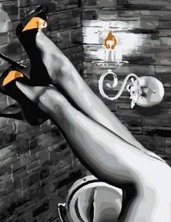 Картина по номерам Красивые ноги