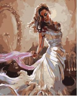 Картина по номерам Элегантность в белом